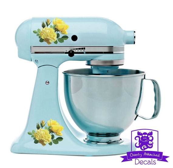 Yellow Roses Kitchen Stand Mixer Wrap Front Back Decal Set Etsy