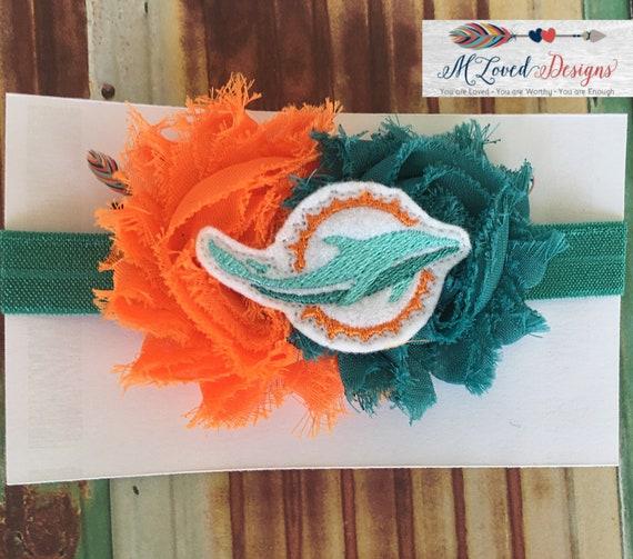Miami Dolphins Headband/Miami Dolphins Hair Clip/Dolphins Headband
