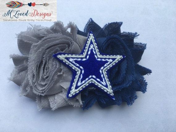 Dallas Cowboys Headband/Dallas Cowboys Hair clip/Dallas Cowboys Game Day Headband