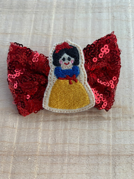 Snow White Inspired Hair Bow|Hair clip|Hair Flower