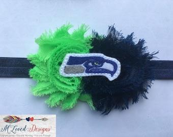 Seattle Seahawks Inspired Headband/Hair clip/Baby Headband/Toddler Headband/Girls Headband