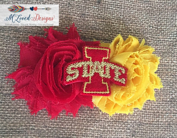 Iowa State Cyclones hair clip/Iowa State Headband/Cyclones headband/Cyclones hair clip