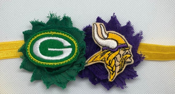 Green Bay Packers/Minnesota Vikings House Divided Headband/Hair Clip/Bow