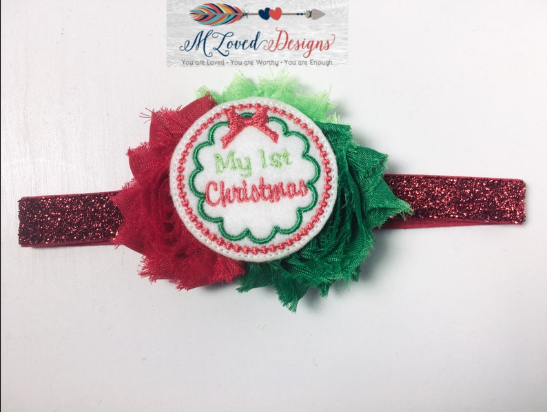 My 1st Christmas headband/Baby's 1st Christmas Headband image 0
