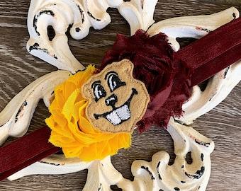 Minnesota Golden Gophers Headband/Gophers Headband/University of MN Headband/Goldy Gopher Headband/Gold Gophers Headband