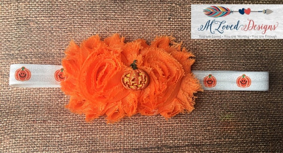 Pumpkin headband - Fall headband/baby headband/Toddler headband