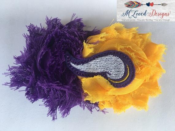 MN Vikings hair clip/Minnesota Vikings Hair Clip/Vikings clip