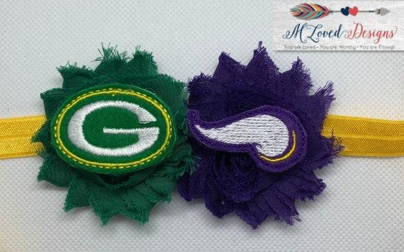 Minnesota Vikings/Green Bay Packers House Divided Headband/Hair Clip