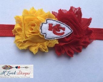 Kansas City Chiefs headband/KC Chiefs Baby headband /Kansas City Chiefs/Kansas City Chiefs baby headband/Kansas City newborn