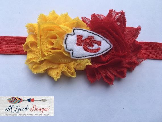 Kansas City Chiefs headband/Kansas City Chiefs hair clip/Chiefs headband