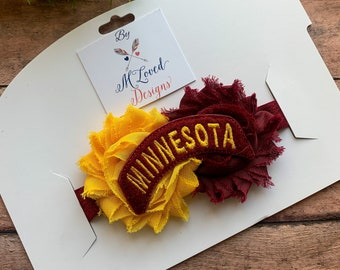 Minnesota Gophers Headband/Hair clip/Baby Headband/Toddler Headband/Girls Headband