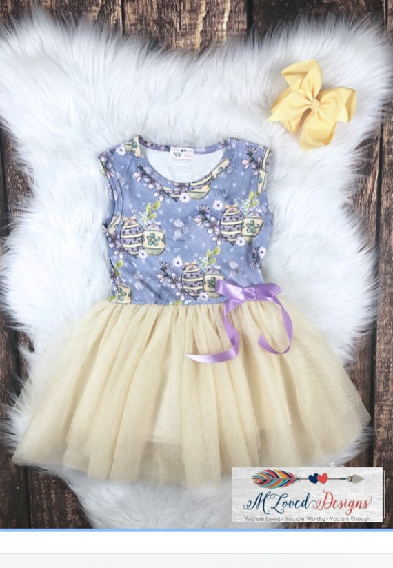 Easter Egg Tulle Dress