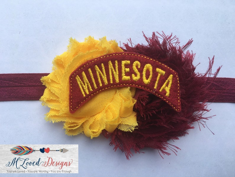 Minnesota Gophers Headband/Hair clip/Baby Headband/Toddler image 0