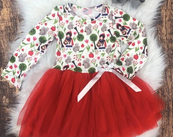 Little Red Riding Hood Red Tulle Dress 2T