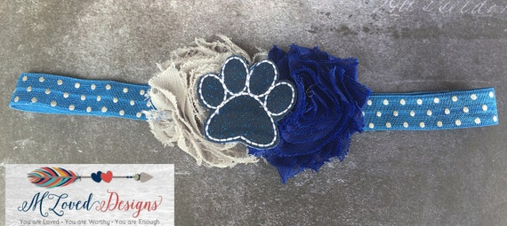 Paw Headband Huskies Headband Husky Headband Baby Headband Infant Headband Toddler Headband Girls Headband