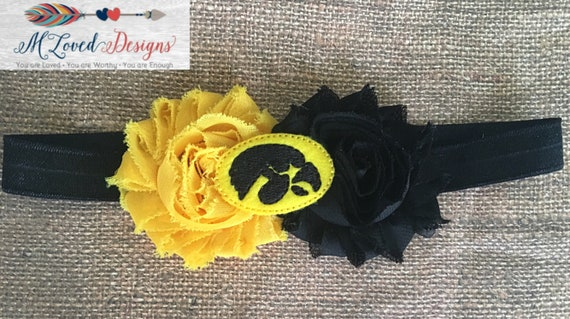 Iowa Hawkeyes Headband/Iowa Hawkeyes hair clip/Iowa Hawkeyes game day headband/Iowa Hawkeyes Game Day Hair Clip