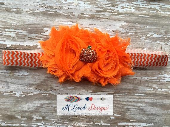 Pumpkin headband/Pumpkin Patch headband/Fall headband/Autumn headband
