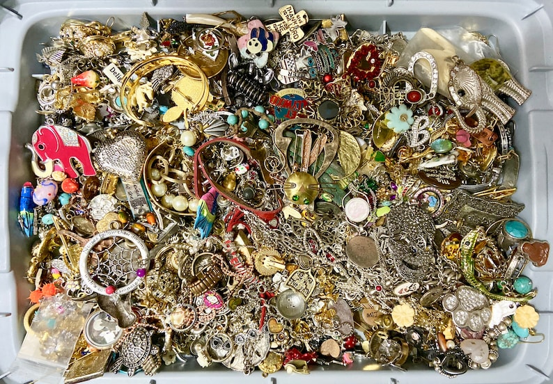 BRIGHTON LUCKY 9.3 Pound Lot Costume Jewelry Brooches Charms Words Animals Holidays