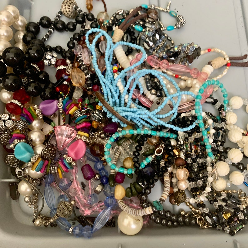 Colorful FREE SHIPPING Lots of Beads 5 Pound Lot Misc Costume Jewelry Most Wearable