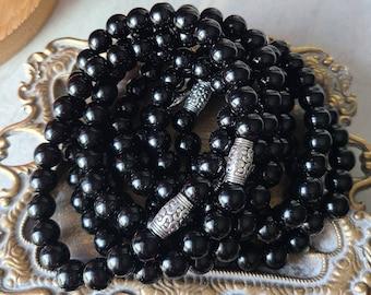 Black jade bracelet,Protection bracelet,Healing crystals