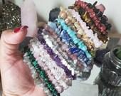 Gemstone chip bracelet,Healing bracelet,Elastic bracelet,crystal bracelet
