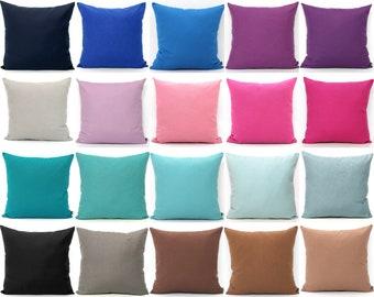 Purple Pillows SOLID Pillow Covers Decorative Pillow Cover Navy Pillow Denim Pillows Pink Pillows Plum Pillows Fuchsia Pillows Rose Salmon