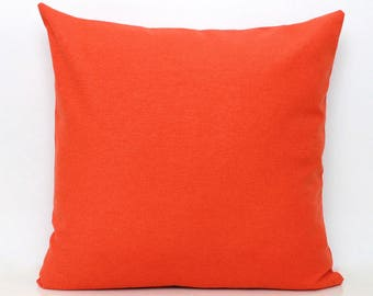 Orange Pillow cover - Solid Orange Pillow Covers - Orange Scatter Cushion Solid Orange Scatter Orange Throw Pillow 18 20 22 26
