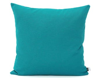 Teal Pillow Cover Solid Teal Cushion Cover - Dark Teal Pillows, Teal Throw Pillows, Solid Teal Pillows, Plain Teal Pillows, All Sizes 26x26