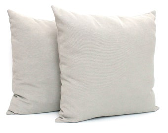 Set of 2 Light Grey Pillow Cover Solid Gray Cushion Covers Grey Scatter Pillows Throw Pillow 18x18 20x20 12x20 24x24 26x26 22x22 16x16 17x17