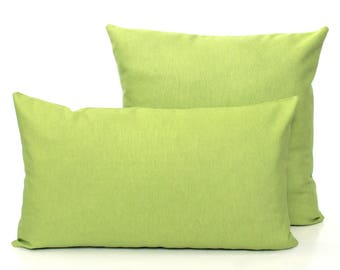 Solid Apple Green Cushion Cover - Solid Pillow Covers -  Apple Scatter Cushion - Solid Green Pillow Case - Lime Pillow Apple Pillow