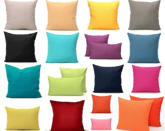 SOLID Pillow Covers, Decorative Pillow Cover, Solid Throw Pillow,  Teal Cushion Gray Salmon Orange Throw Pillow Black Pillow Mustard Pillow