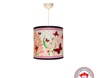 Child lamp hanging cloud of butterflies