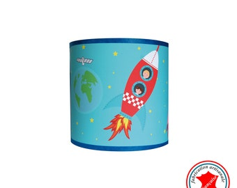 """Child lamp Applique boy """"in space"""""""