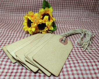 Small Grungy Tags - 10 pieces per package - Small Antiqued Coffee Stained Tags - Primitive - Folk Art - Tags - Great for Crafts