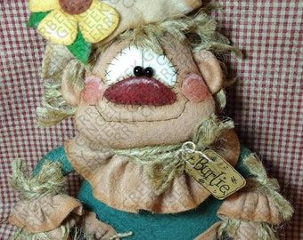 Mr. Cropsitter Scarecrow Pattern #341 - Primitive Doll Pattern - Autumn - Thanksgiving - Scarecrow - Whimsical - Fiber Art - English Only