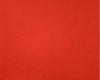 Wool Felt - Cherry Tomato Red - Sold by the Half Yard