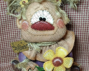Mrs. Cropsitter Scarecrow Pattern #340 - Primitive Doll Pattern - Autumn - Thanksgiving - Scarecrow - Whimsical - Fiber Art - English Only