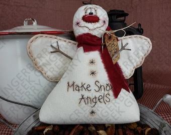 Make Snow Angels Pattern #123 - Primitive Doll Pattern
