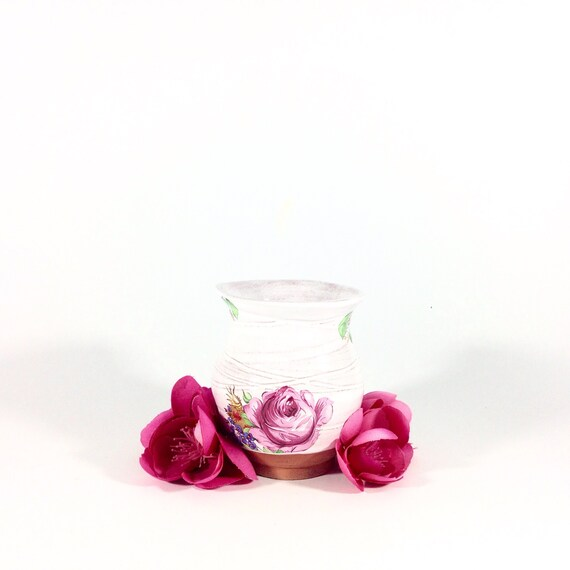 The Betsy Bud Vase In French Roses Bud Vase French Country Etsy