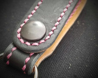 DELUXE Leather Key Ring or Wallet Chain Belt Loop