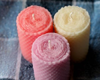 "3"" Pillar Beeswax Advent Candles"