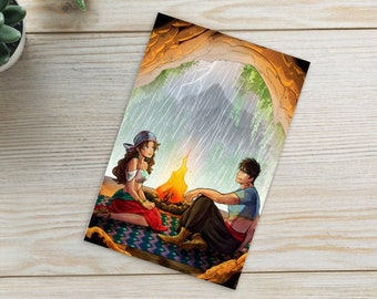 Camp Fire Story Time - Standard Postcard