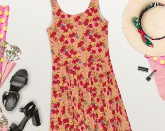 Pomegranate Aro & Tan Blush - Skater Dress