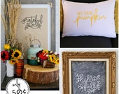 Fall SVG Bundle. Hello Fall, Grateful, and Hey There Pumpkin