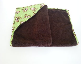 Baby Bath Towel | Laughing Monkeys Hooded Baby Bath Towel Green | Hooded Towels | Ready-To-Ship