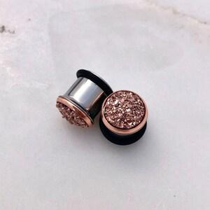 12mm 12 Tunnels Long Chandelier AcrylicWoodSurgical Steel Fancy Plugs Gold Gauged Earrings 716 11mm 000g Dangle Plugs 916 14mm