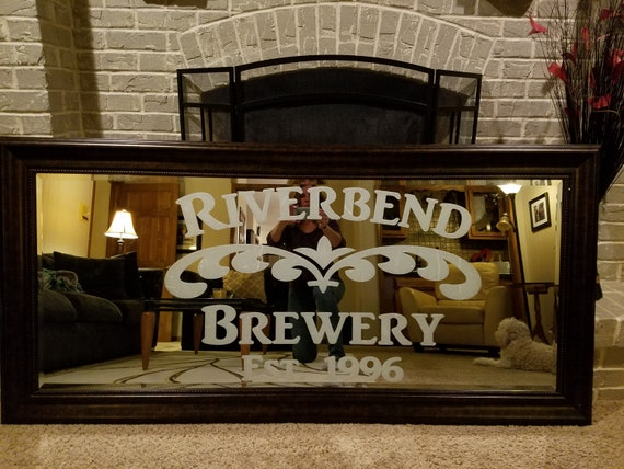 Mirror not Included Custom Family Bar Frosted Etched Glass Vinyl Wall Quote Sticker Decal