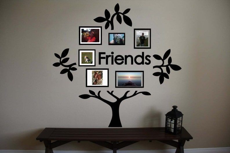 Friends Family Tree Vinyl Wall Sticker Decal C