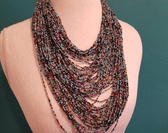 Handbeaded MULTI Strand Necklace