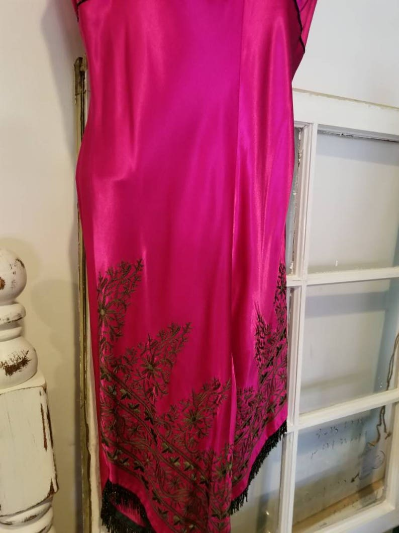A.B.S by Allen Schwartz Vintage Satin Dress